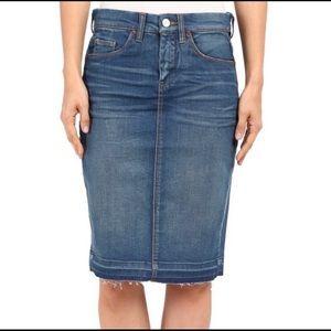 Blank NYC Raw Hem Denim Skirt